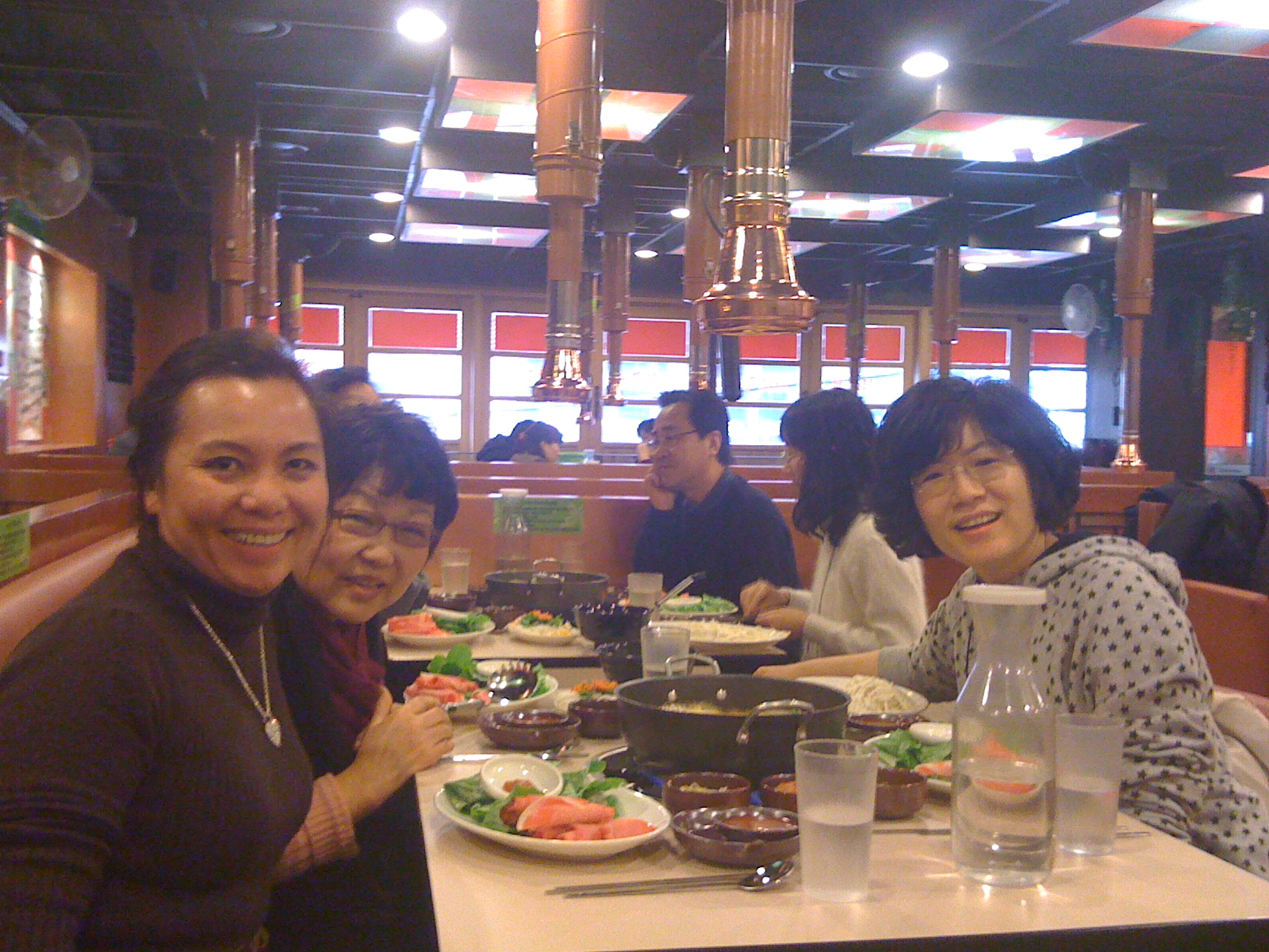 Shabu Shabu lunch with KLC Founder, Susan Gimm (to my left), Hannah my life line interpreter